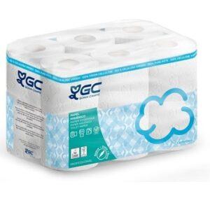 HIGIÉNICO DOMÉSTICO, Rollo de papel higiénico de pura celulosa. Fardo dos capas