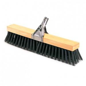 BARRENDERO COMPLETO, Cepillo de fibra sintética dura para barrido exterior de suelos rugosos o lisos de cemento, piedra, asfalto, etc. Disponible en tamaño de 51 cm