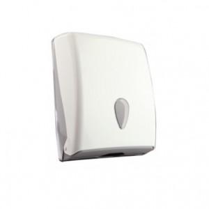 DISPENSADOR TOALLAS Z - C -W - V, Dispensador toallas Z – C – W – V con cuerpo, cerradura y visor en ABS