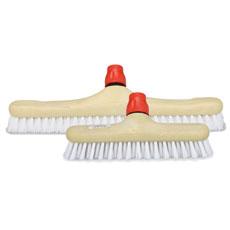 NYLON BLANCO, Cepillo de fibra sintética semidura para fregar superficies lisas o rugosas. Disponible en tamaños de 23 y 40 cm