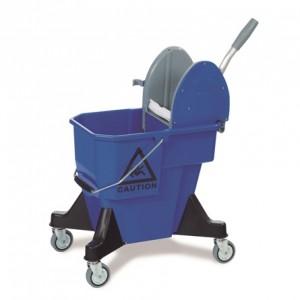 CARRO ALEX-1, Cubo de 25 litros de plástico reforzado, prensa de plástico, ruedas de 80 mm. Dimensiones: 52x40x82 cm
