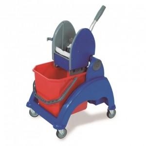 CARRO SKY-125, Estructura de plástico reforzado, cubo de 25 litros, prensa de plástico, ruedas de 80 mm. Lleva incorporada una cesta posterior. Dimensiones: 55x46x88 cm