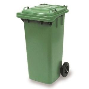 CONTENEDOR BASURA, Contenedor de basura industrial en plástico de gran resistencia. Disponible en tamaños de 80, 120 y 240 litros