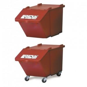 CONTENEDOR MODULAR, Contenedor modular apilable. Disponible en colores diversos para diferenciación de residuos. Posibilidad de incorporar ruedas a los módulos
