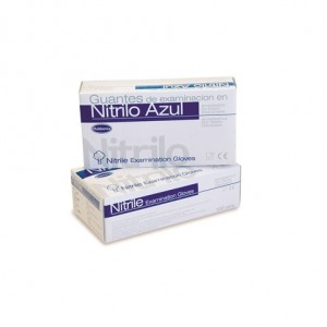 GUANTE DESECHABLE NITRILO, Guante monouso de nitrilo azul  Tallas disponibles: S (pequeña) /  M (mediana) / L (grande)