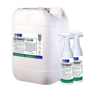 GERMINET CLOR, Limpiador multiuso específico formulado con hipoclorito. De alta eficacia bactericida, fungicida y virucida.