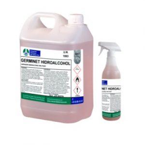 GERMINET HIDROALCOHOL, Limpiador multiuso de secado rápido. Potente agente bactericida, fungicida y virucida