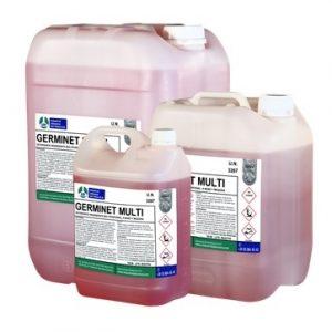 GERMINET MULTI, Detergente-Higienizante líquido ligeramente alcalino. Potente agente bactericida, fungicida y virucida.