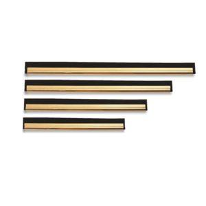 GUÍA LATÓN, GOMA Y CLIP, Guía y goma para limpiacristales de latón. Disponible en tamaños: 25, 35, 45 Y 55 cm