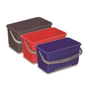 CUBO PLÁSTICO 22 LTS, Cubos de plástico de gran resistencia para uso en los carros. Disponibles en azul, rojo y gris