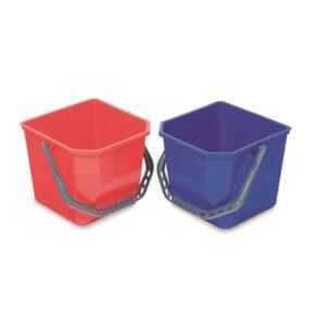 CUBO PLÁSTICO 25L, Cubos de plástico de gran resistencia para uso en los carros. Capacidad 25 litros. Disponible en rojo o azul