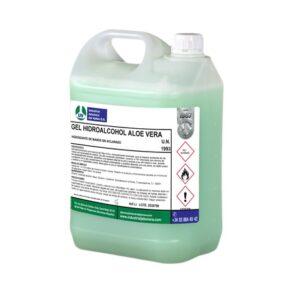 GEL HIDROALCOHOL ALOE VERA, Gel hidroalcohólico con esencia de Aloe-Vera